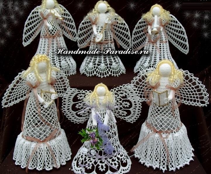 Вяжем ангелочка своими руками из ниток ирис 91
