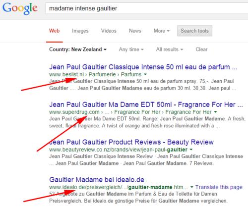 В Поиске Google некорректно работает фильтр по странам