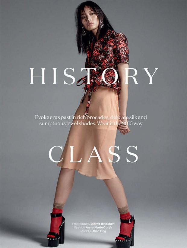 Ли Сяо Син (Li Xiao Xing) в журнале Elle UK (10 фото)