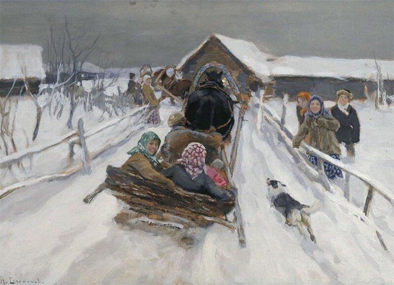 А.Степанов .Катание на Масленицу.jpg