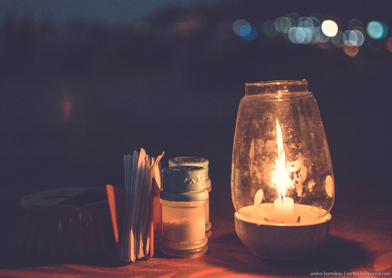 Гоа, Арамболь, ужин при свечах