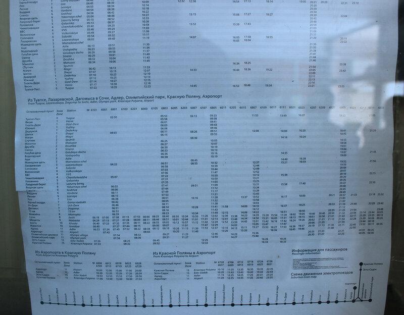 Расписание ЖД вокзала в Туапсе