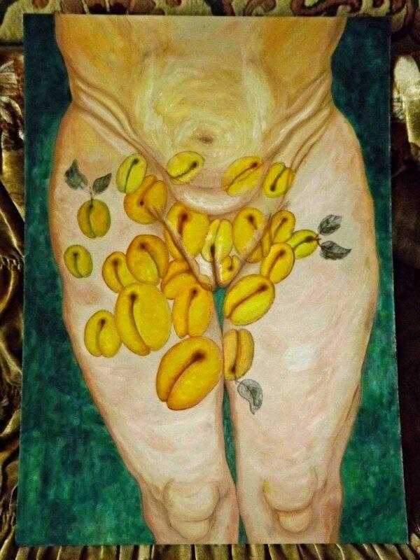 Сексуальные женские абрикосы