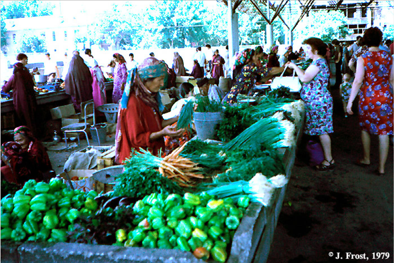 1979. Базар в Ташкенте