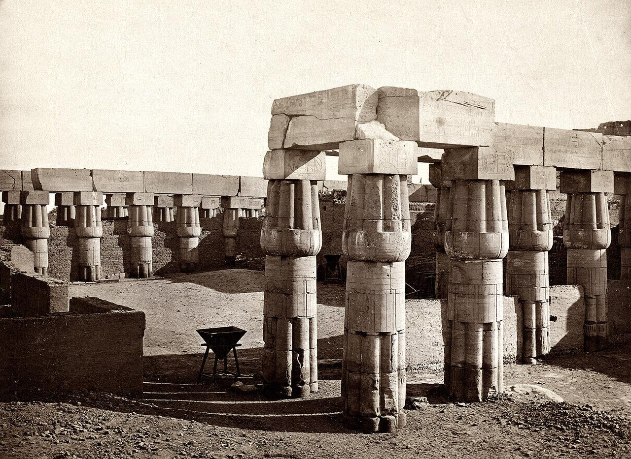 Луксорский храм. Двор Аменхотепа III. 1858