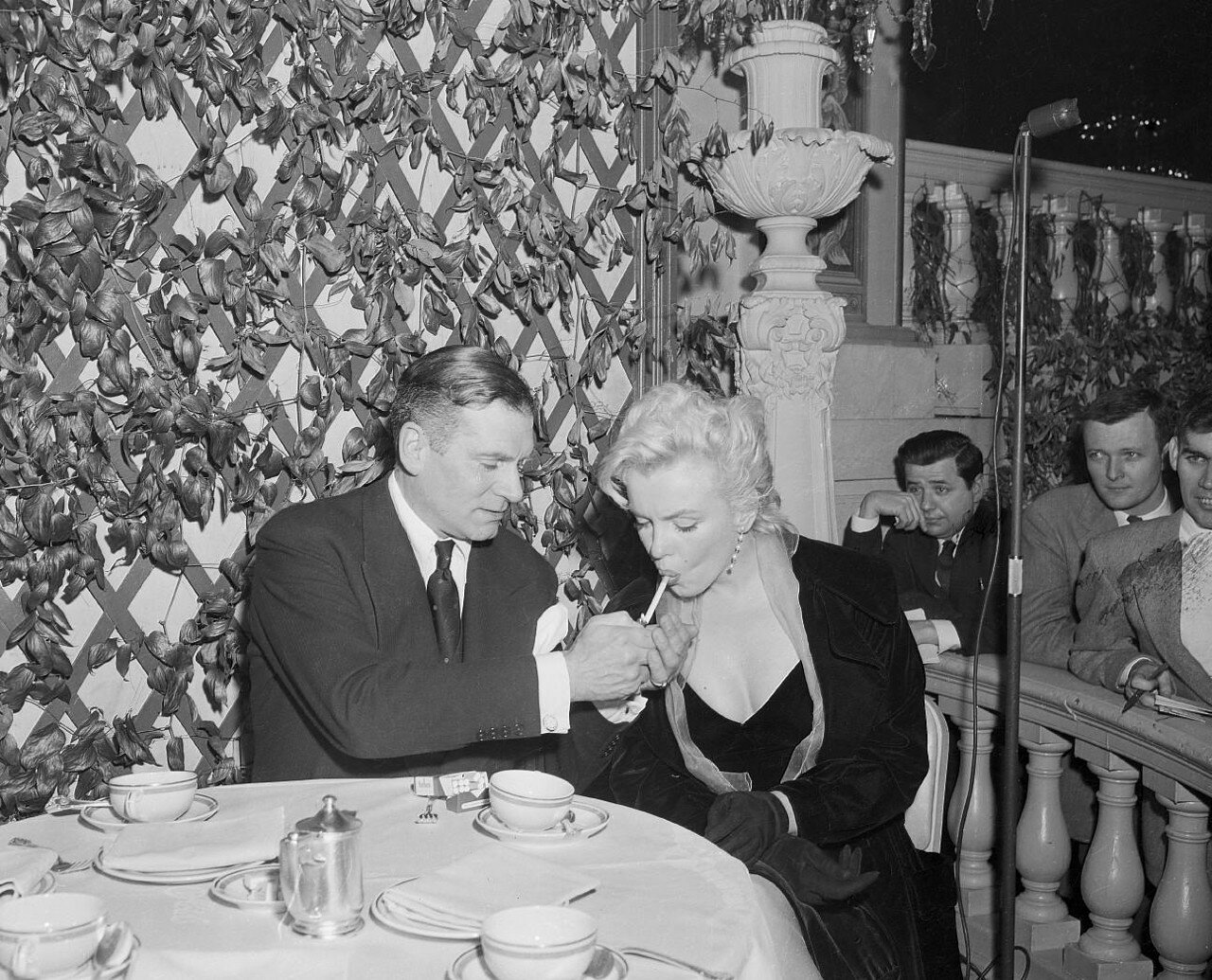 Marilyn Monroe and Lawrence Olivier