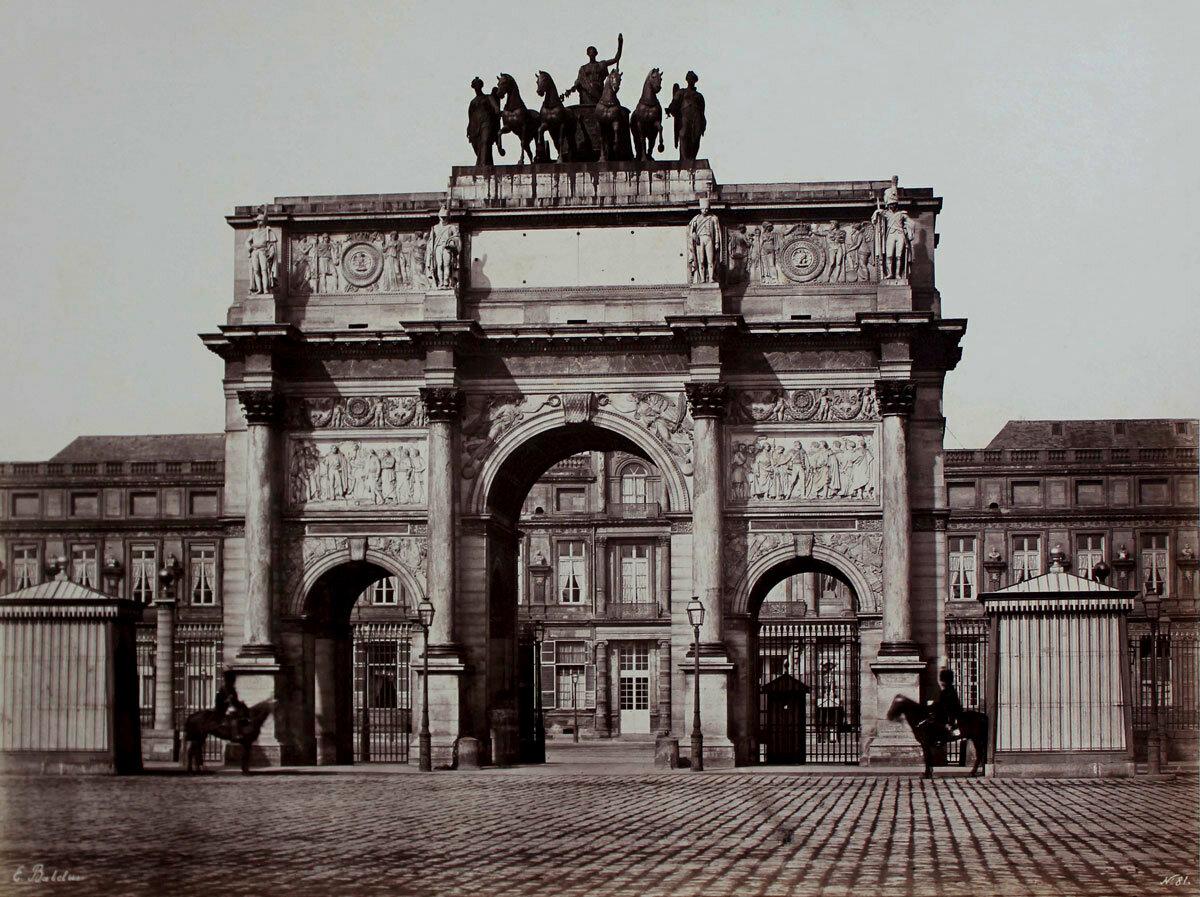 1853. Триумфальная арка на площади Каруззель
