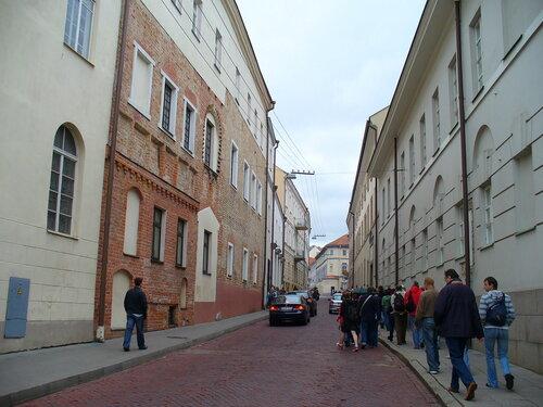 Туристы в центре Вильнюса..JPG