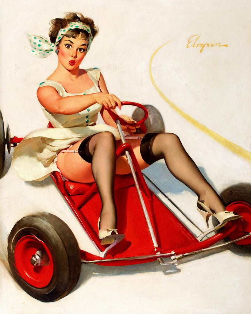 Открытка женщине за рулем