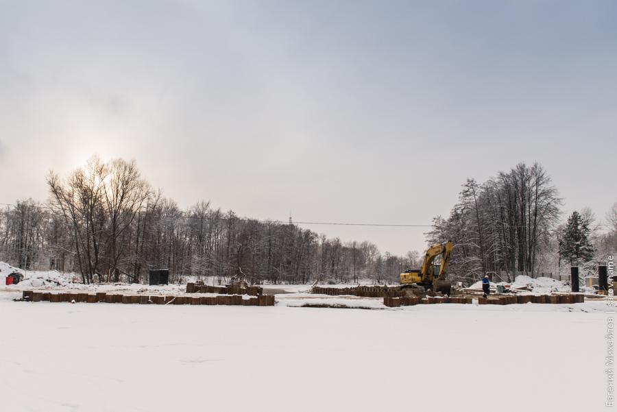 строительство моста через реку Сатис