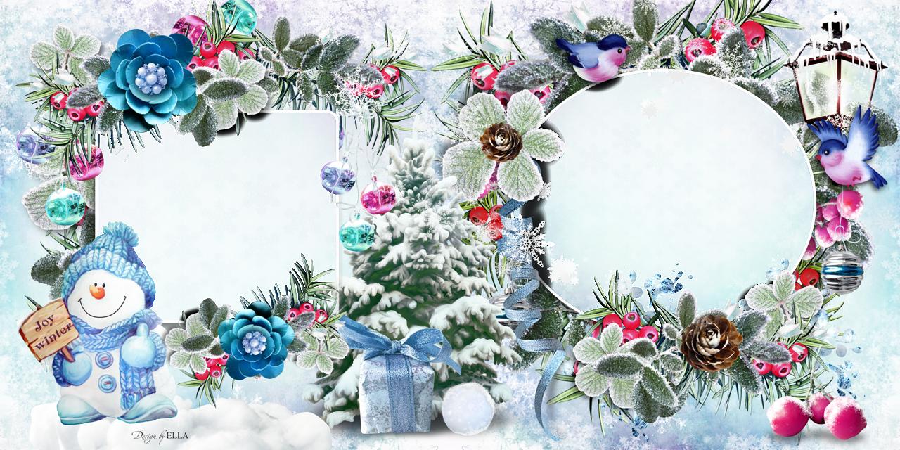 Как сделать зимнюю открытку в фотошопе