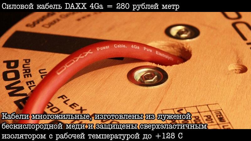 Силовой кабель Daxx 4Ga