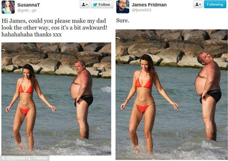 Twitter Джеймс Фридман нарциссизм селфи соцсеть троллинг фотошоп