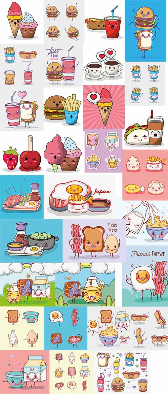 Продукты питания в векторе / Food in the vector
