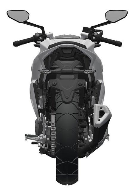 Патентные рисунки Haojue HJ300 (возможный предшественник Suzuki GSX-S300)