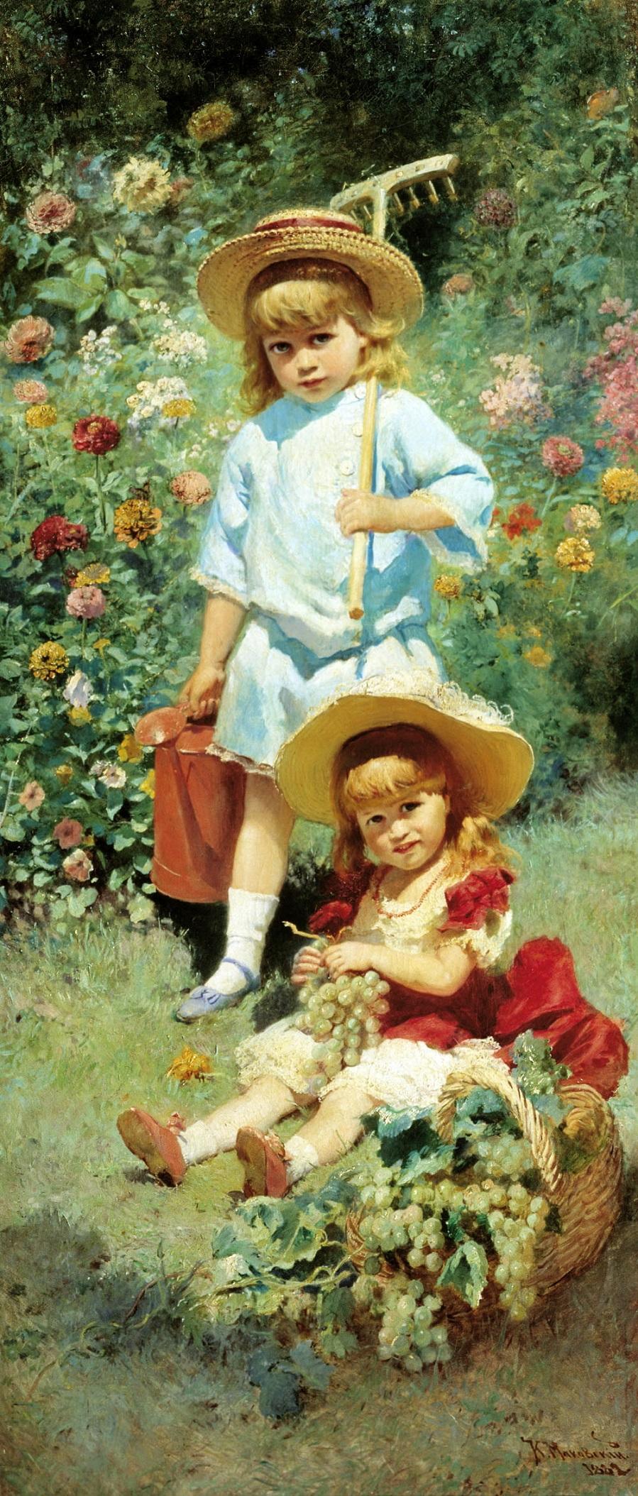Портрет детей художника (Маленький садовник). 1882.