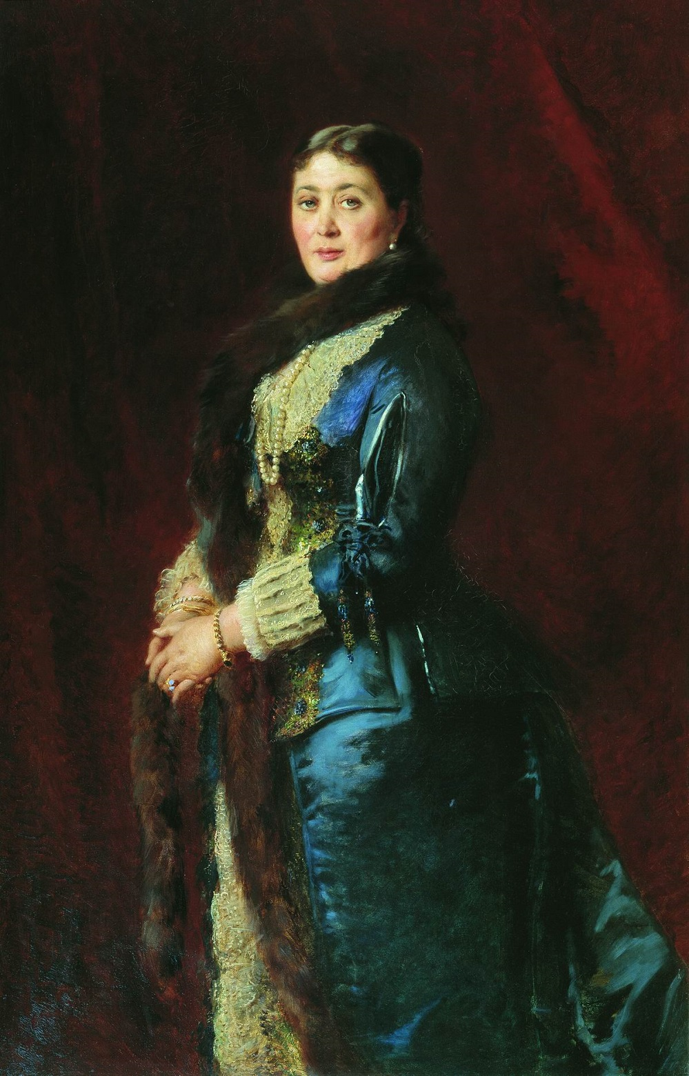 Портрет графини М.Е.Орловой-Давыдовой. 1880-е Государственная Третьяковская галерея, Москва.