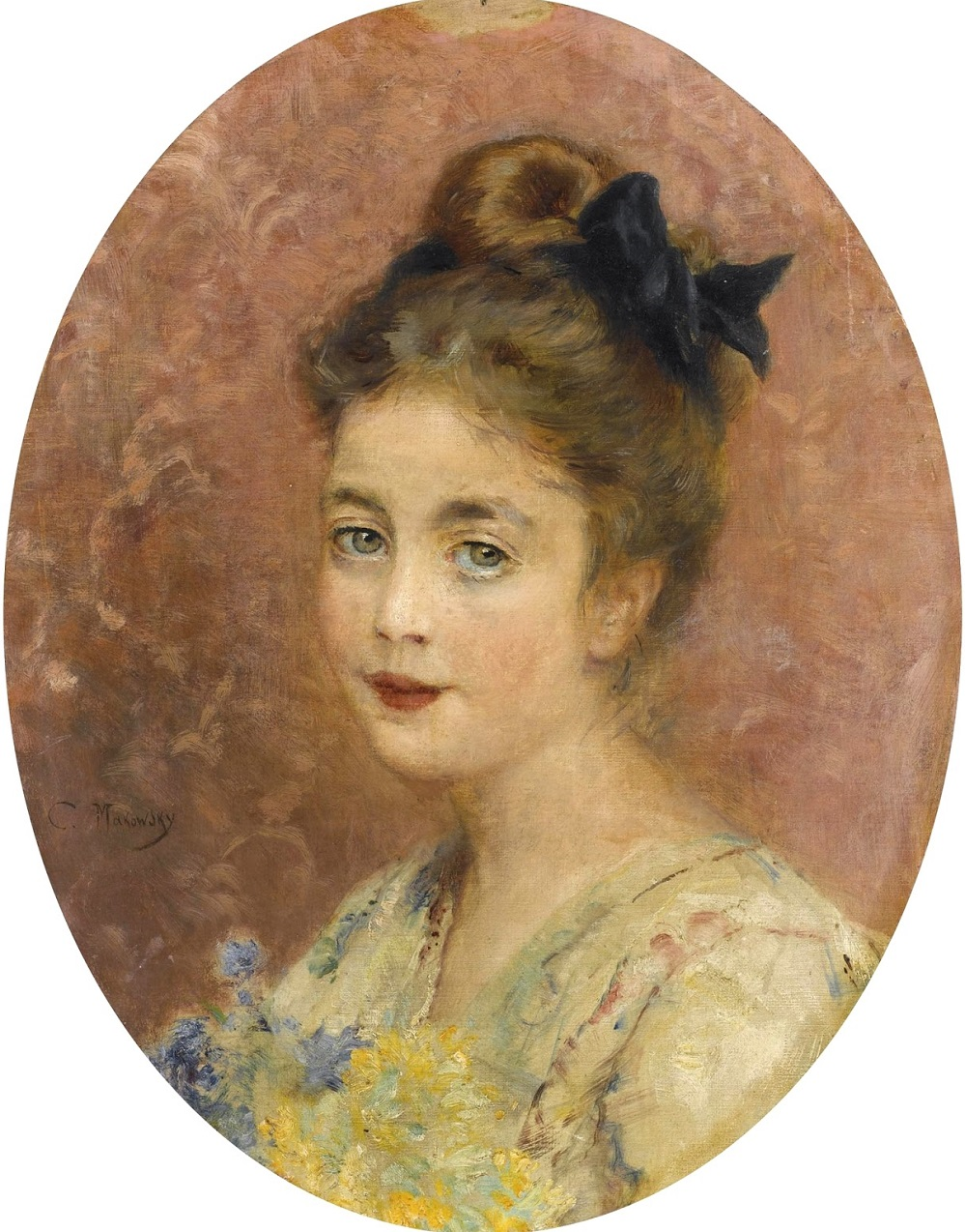 Портрет дамы с букетом Частное собрание.