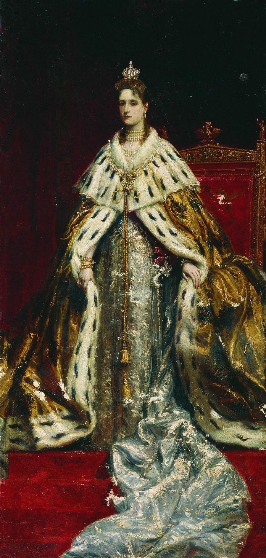 Портрет императрицы Александры Федоровны. Конец XIX века Ораниенбаум