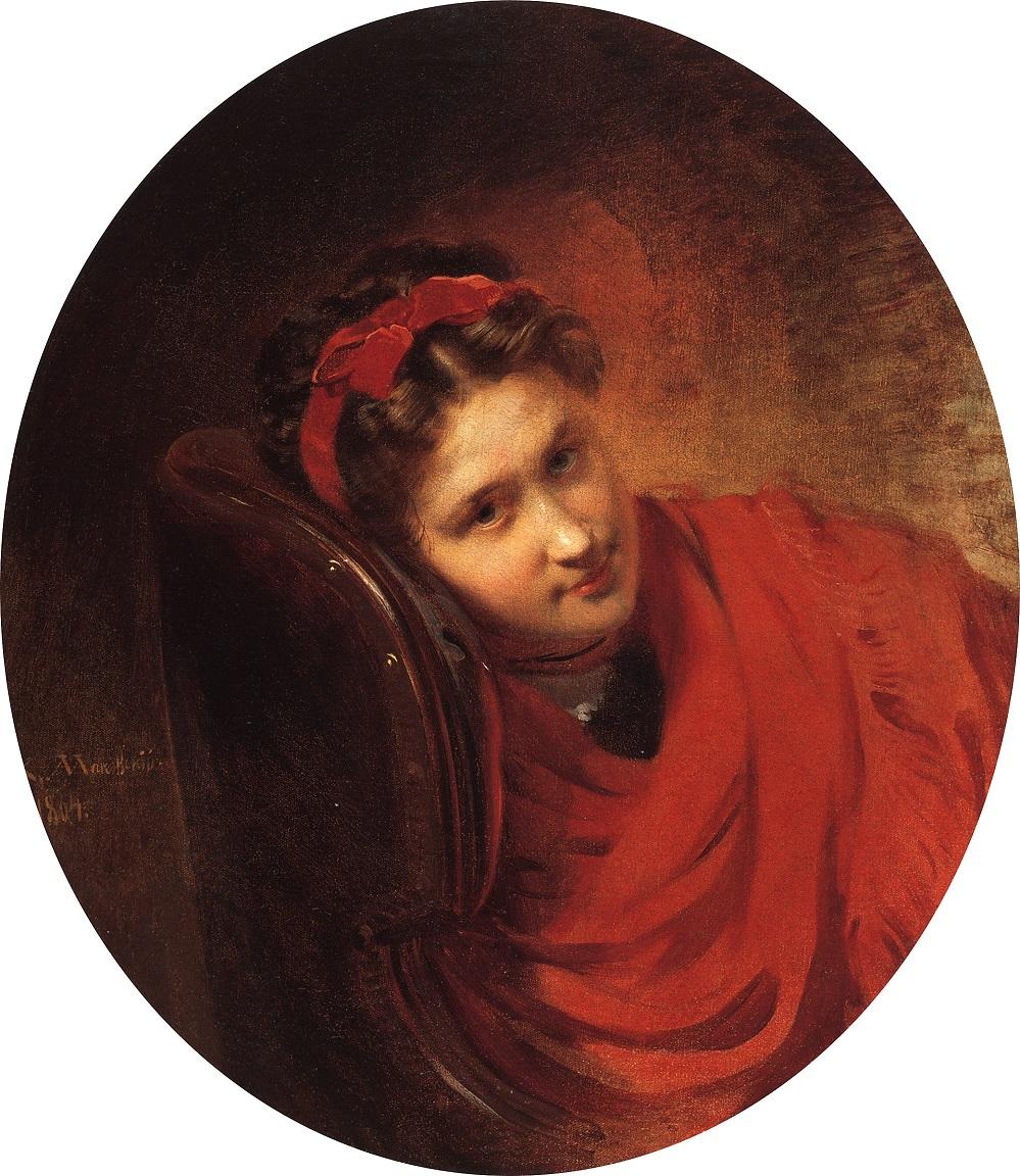 Портрет О.С.Маковской, жены В.Е.Маковского, брата художника. 1864 Частное собрание.