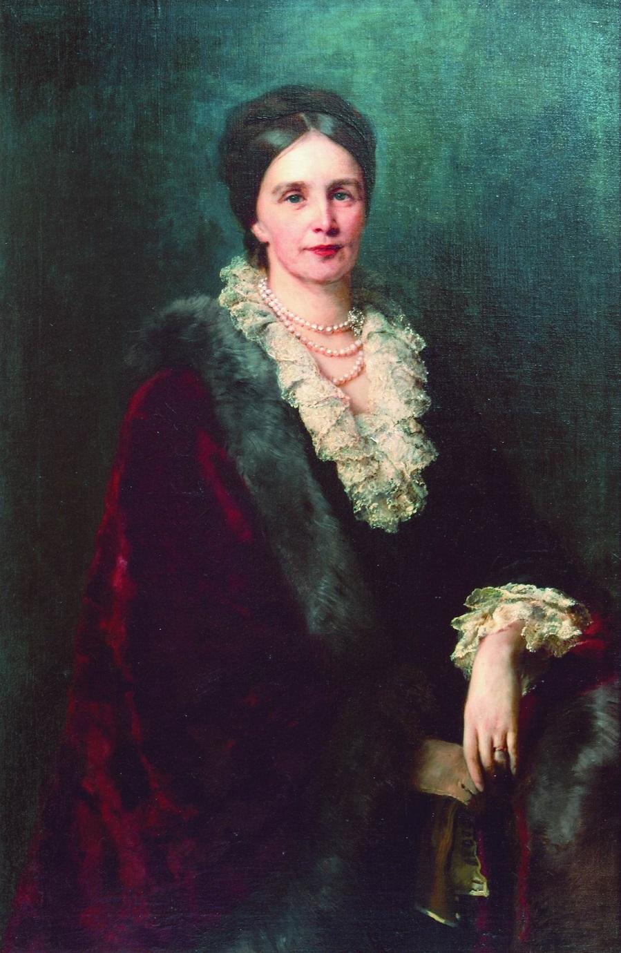 Портрет П.С.Уваровой. Частное собрание.