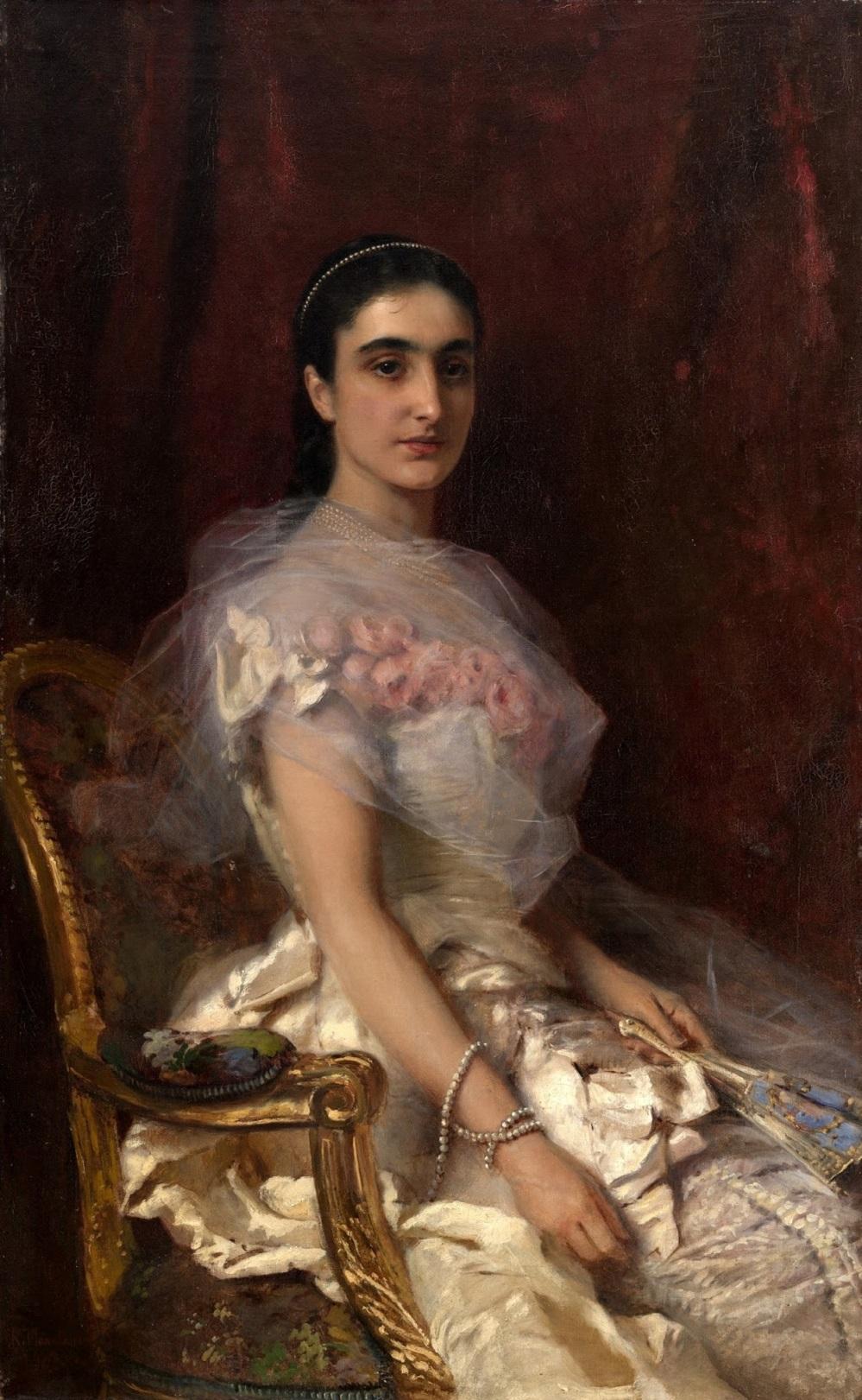 Портрет сидящей дамы_1883 Частное собрание.