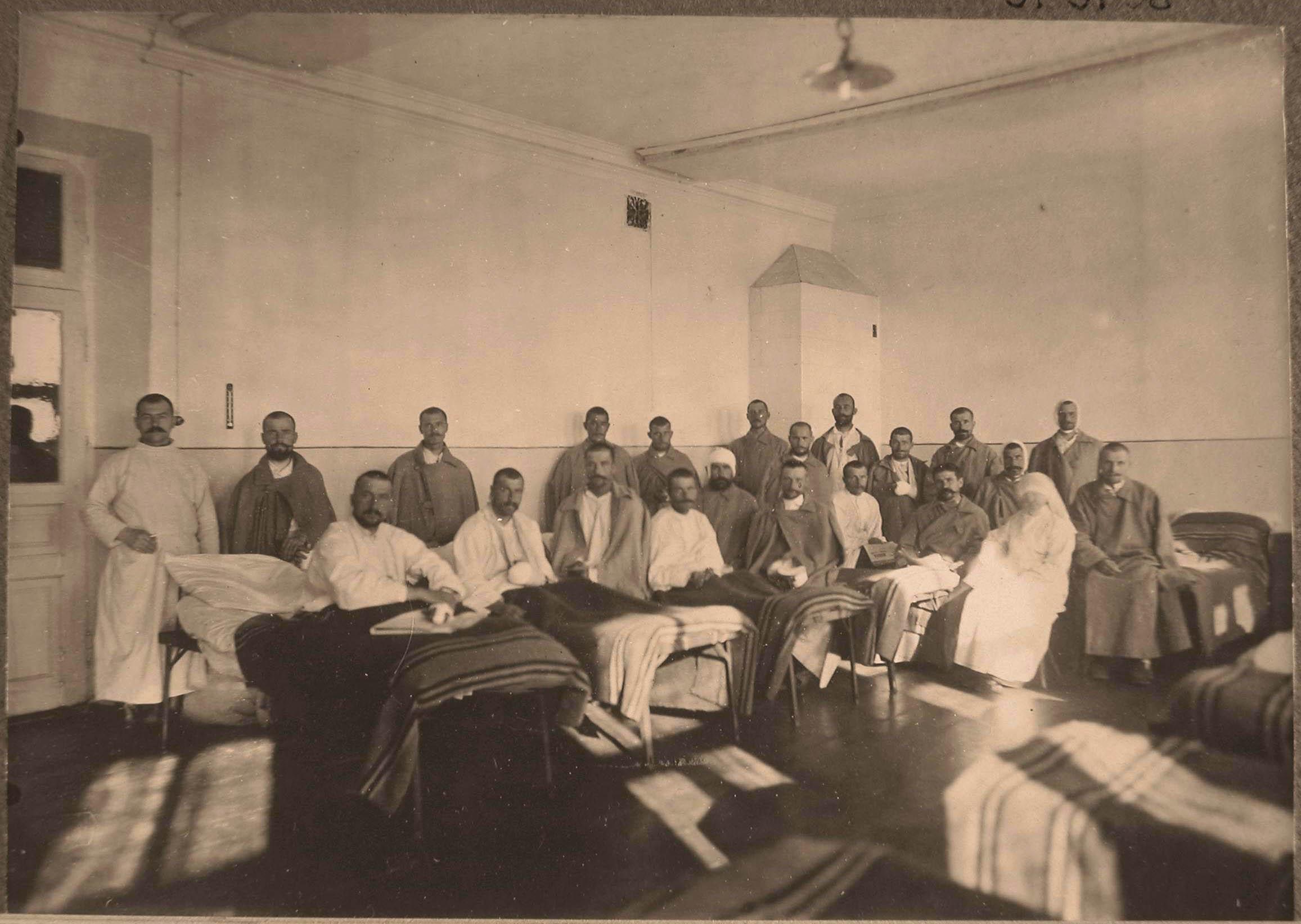26. Группа раненых и сестра милосердия в палате №11