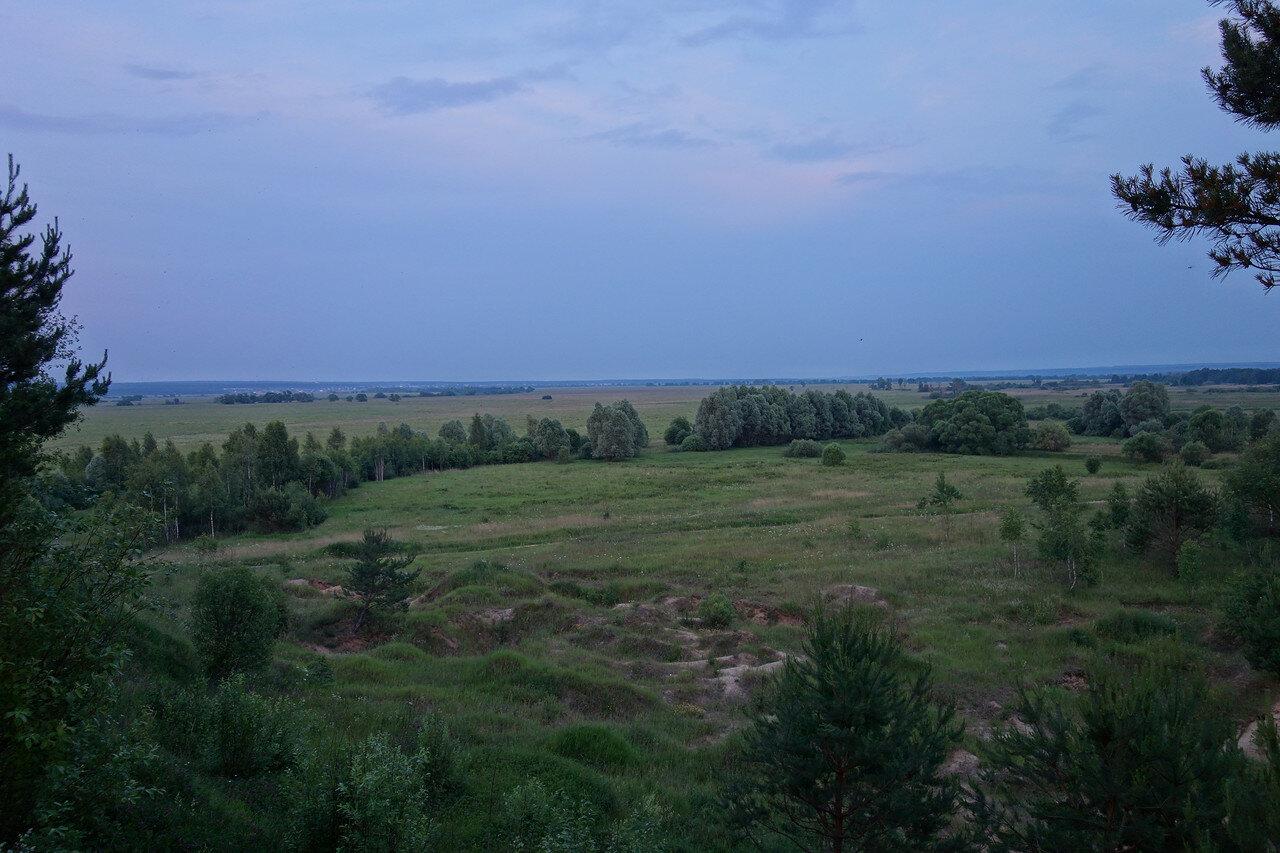 пойма Угры близ Товарково. Вид с места привал-ночевки