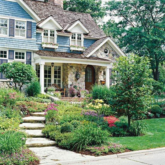 Ландшафт - Идеи оформления переднего дворика дома