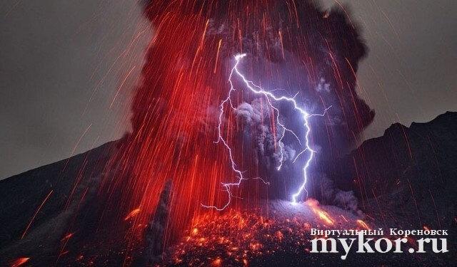 Вулканические молнии фото