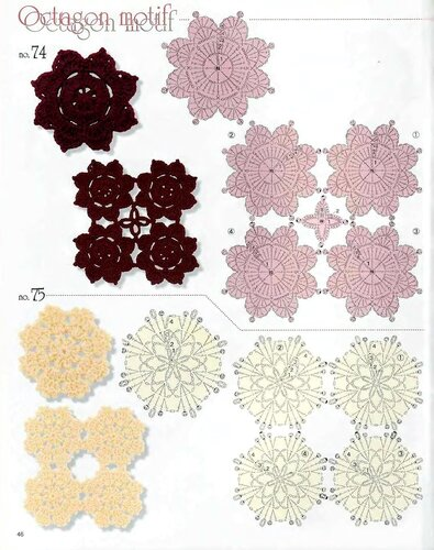 钩针花型图解 31