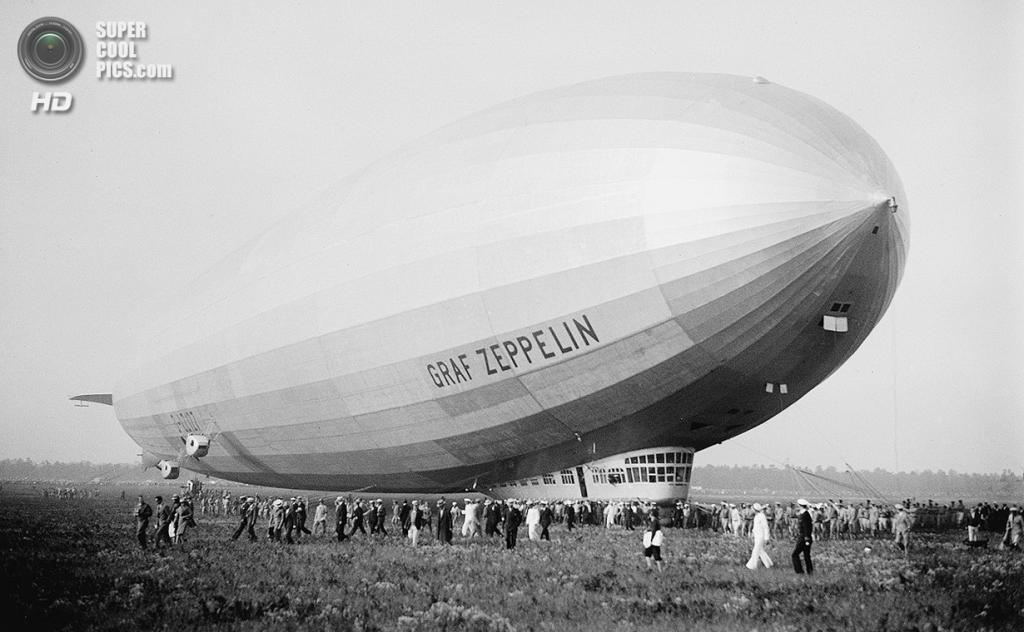 США. Лейкхёрст, Нью-Джерси. 29 апреля 1929 года. Пассажирский дирижабль «Граф Цеппелин» — самый