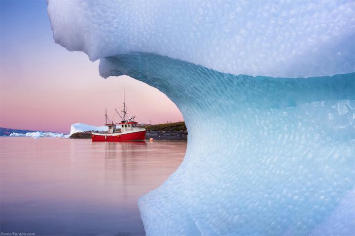 Из-за ледника.
