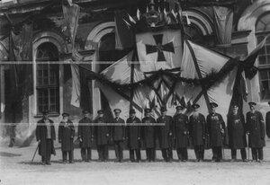 Ветераны, прежде служившие в полку, на праздновании 100-летнего юбилея Кульмской битвы.