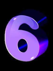 Resultado de imagem para número 6 in numerology