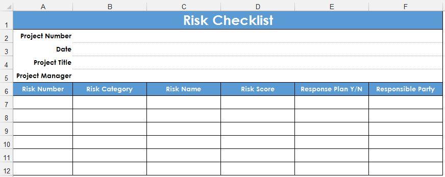 Как при помощи Excel разработать таблицу рисков