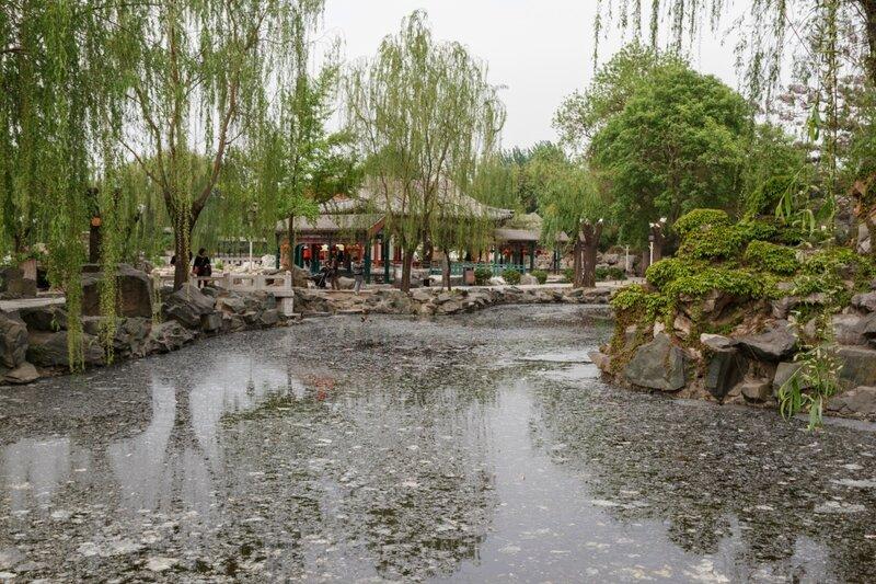 Протока в парке, парк Дагуаньюань, Пекин