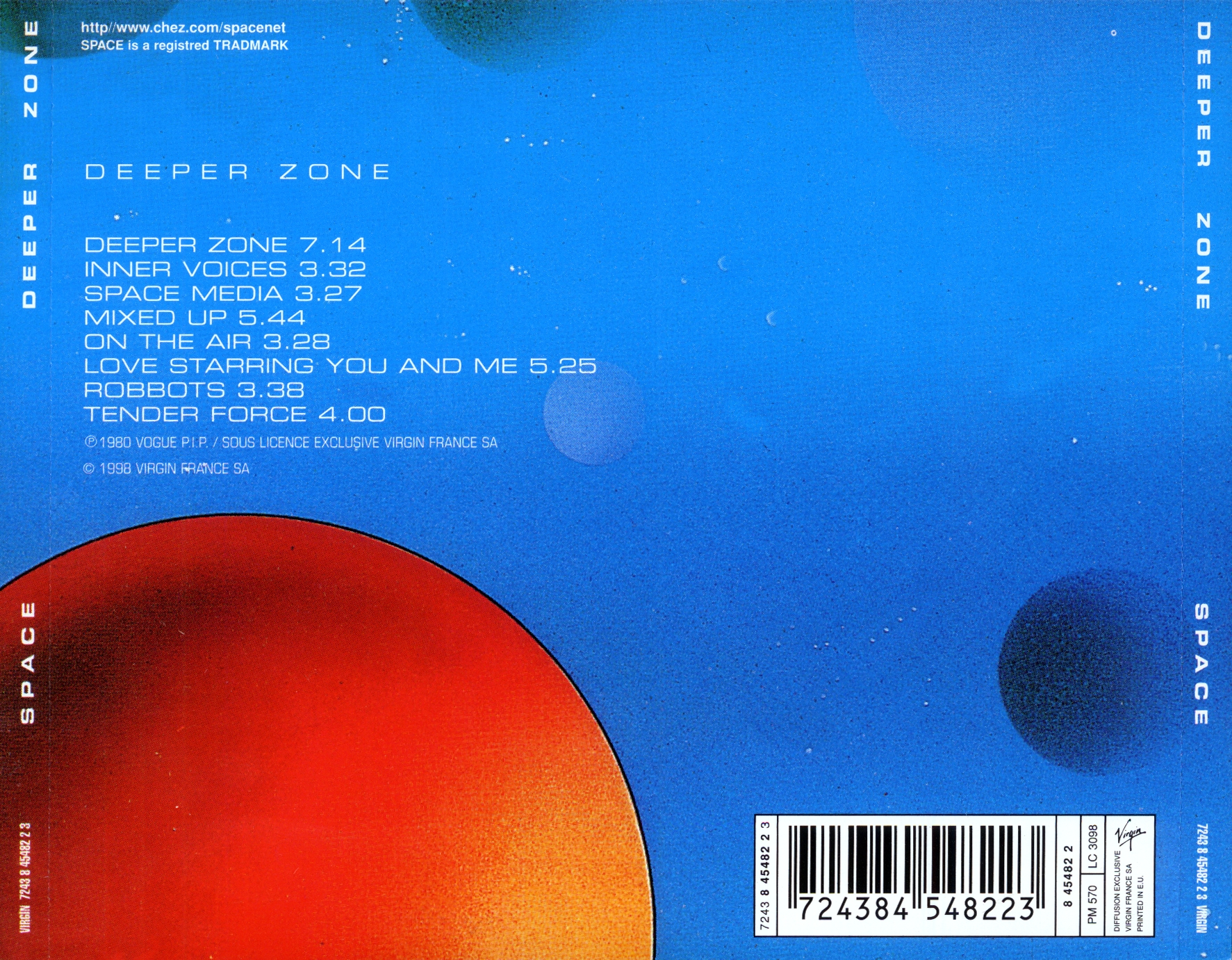 Space deeper zone (virgin france 1998) 1980 lossless все тут.
