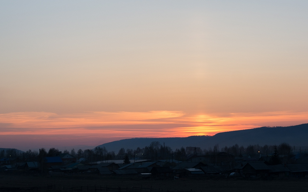 15. Пейзаж после захода солнца. HDR