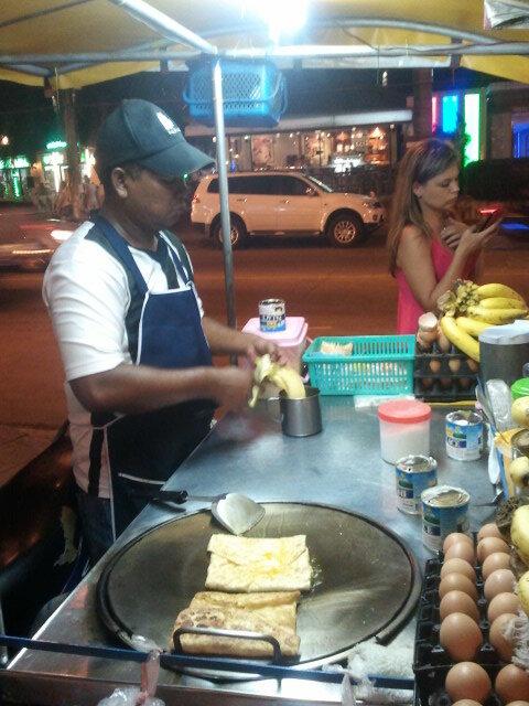 Блины с бананами, Таиланд (Pancakes with bananas, Thailand)