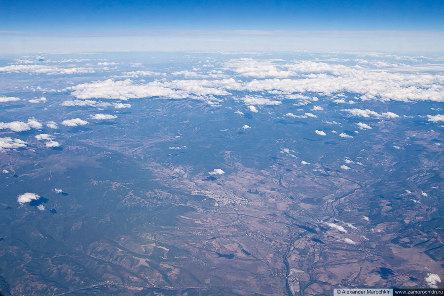 Балканы вид с самолёта