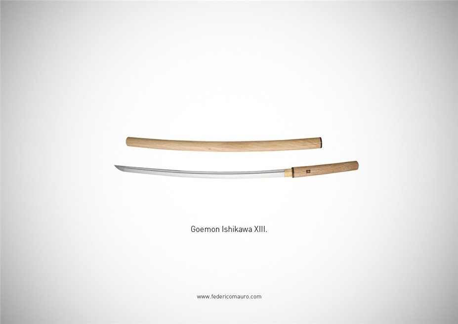 Знаменитые клинки, ножи и тесаки культовых персонажей / Famous Blades by Federico Mauro - Goemon Ishikawa XIII