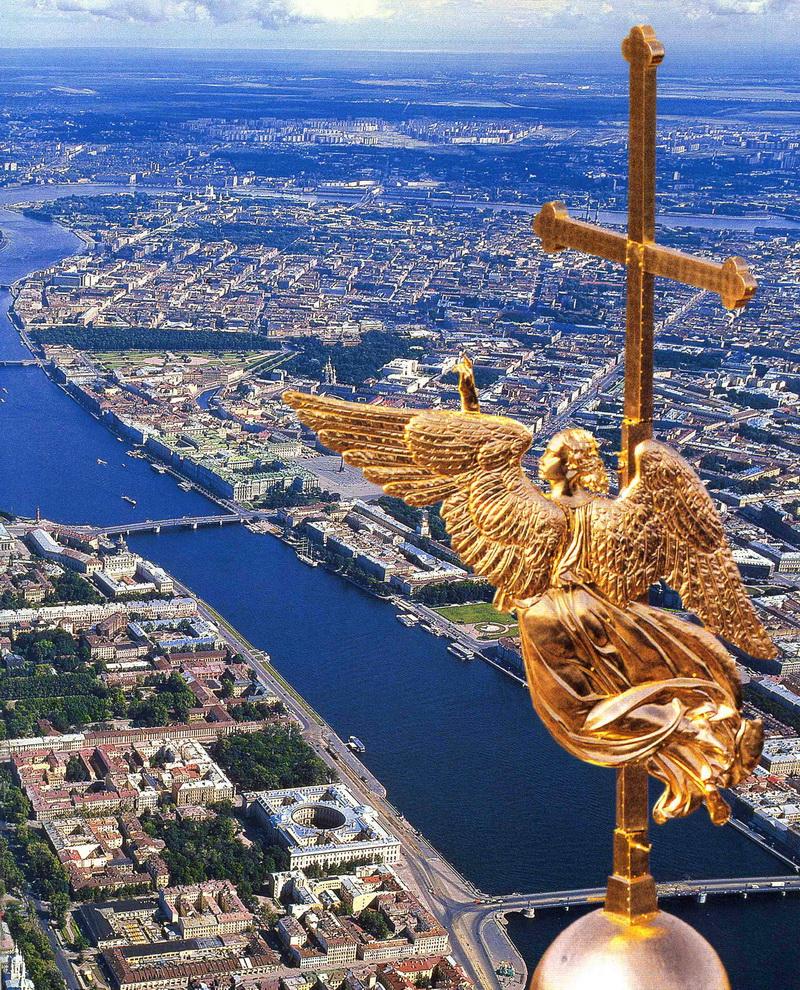 Картинки по запросу Летящий ангел. Шпиль Петропавловского собора