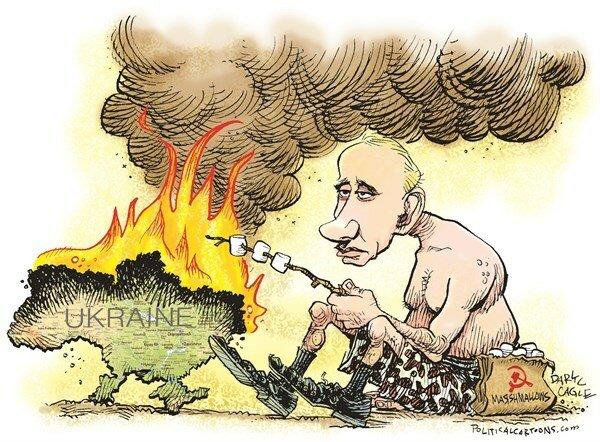 Putin and Ukraine Marshmallows — February 19, 2014 © Daryl Cagle