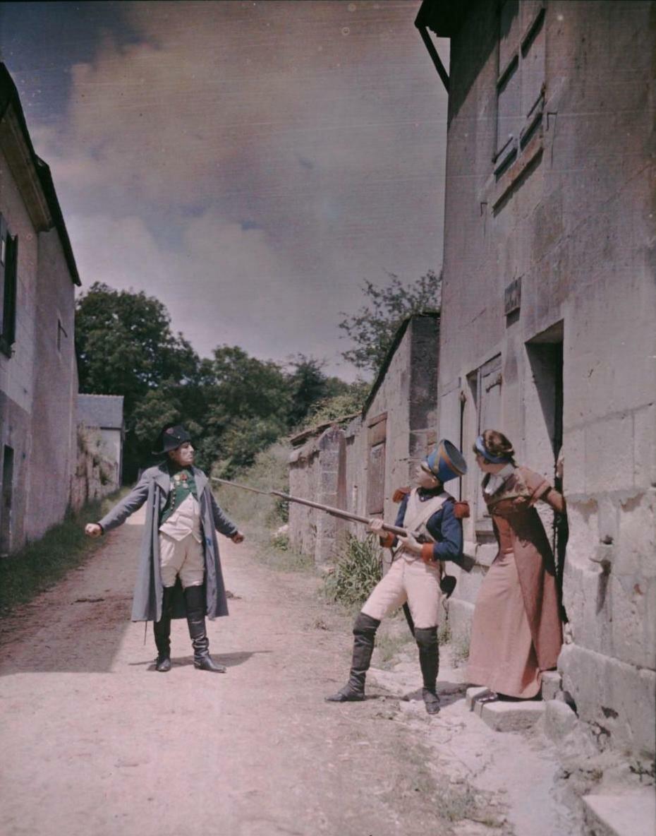 1907. Сцена съемки исторического фильма о временах Наполеона