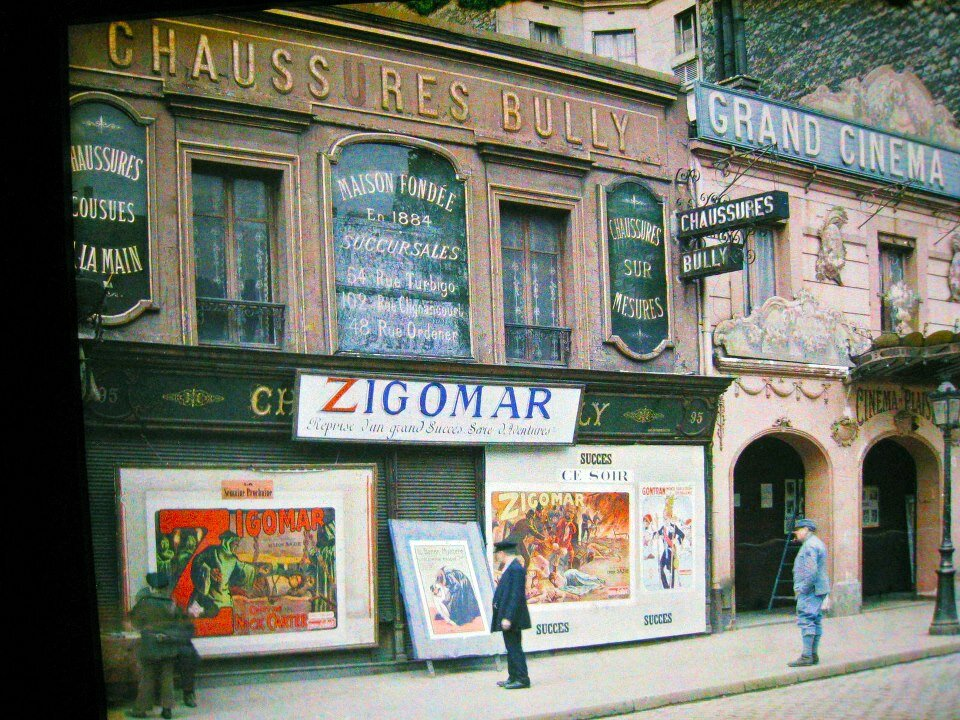 1913. «Зигомар» в кинотеатре на улице де ла Рокет