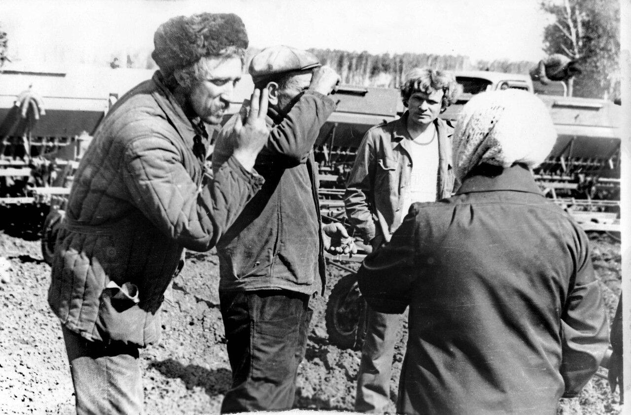1980. Посевная в деревне Равнец