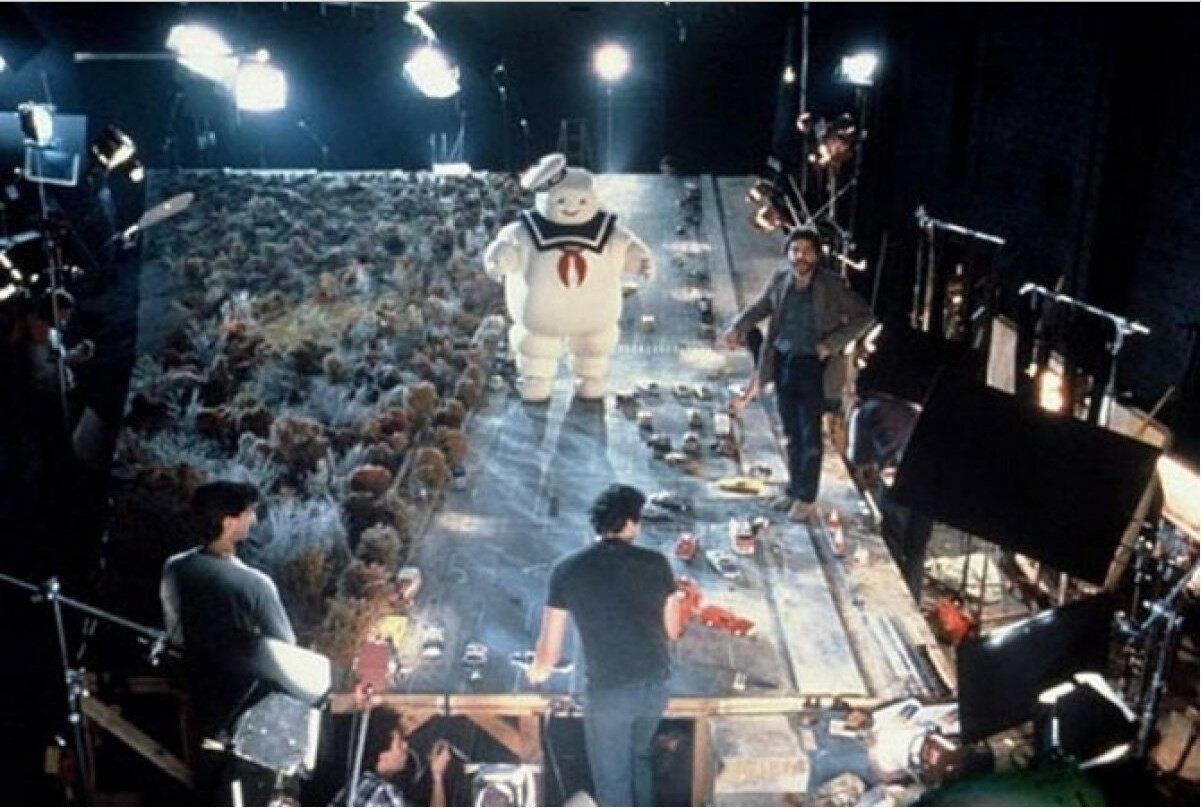1989. Рабочий момент на съемках «Охотники за привидениями 2»