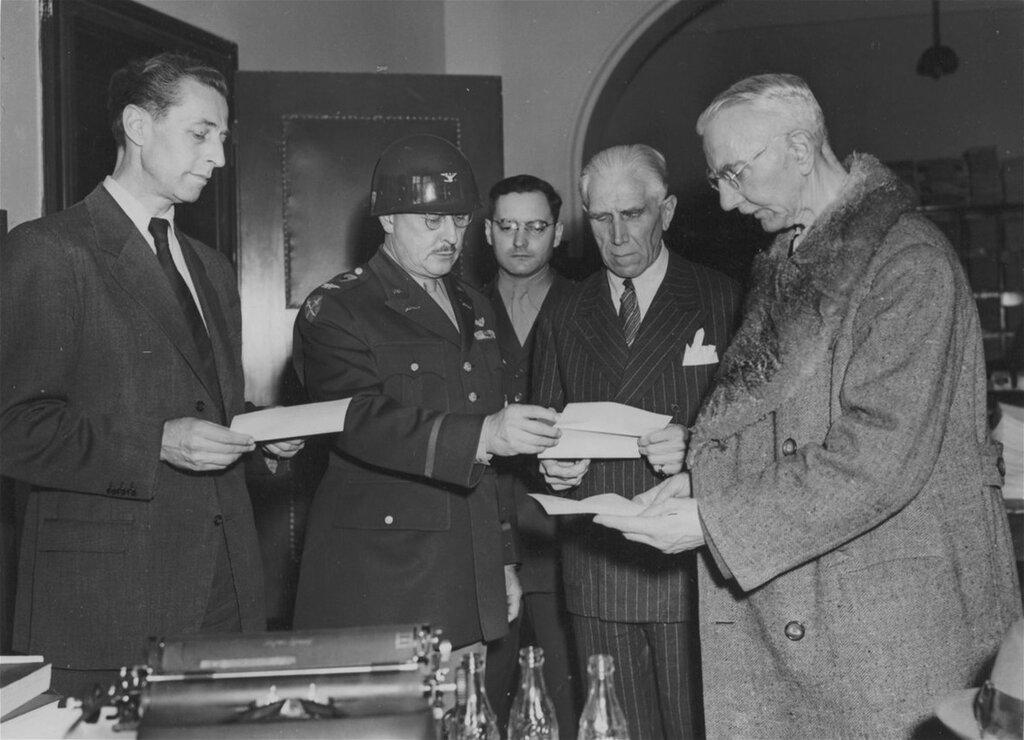 Папен, Шахт, Фриче  на момент освобождения после Нюрнбергского суда