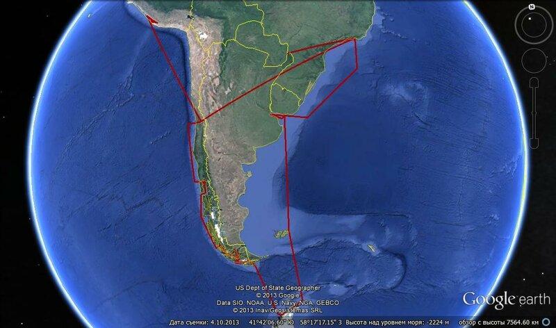 Из Рио в Антарктиду, оттуда на плато Наска...